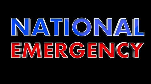 4K Text Bumper National Emergency 2 Videos animados