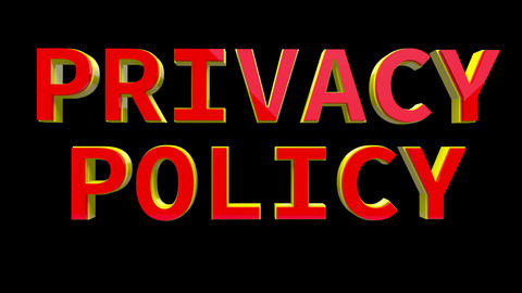 4K Text Bumper Privacy Policy 4 Animation