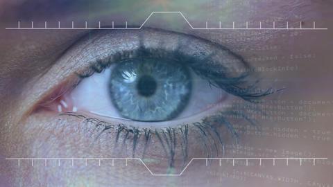 Digital composite of illustration of virtual data Animation