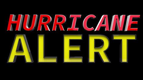 4K Text Bumper Hurricane Alert 2 Animation