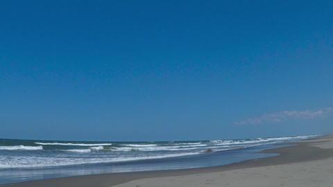 Gentle waves/千葉県九十九里浜の砂浜 Footage