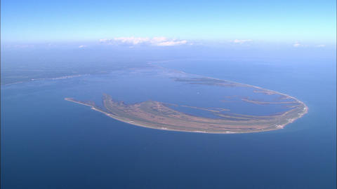 Notsuke Peninsula aerial photography Footage