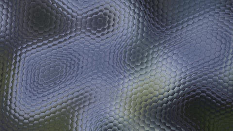 Blue Metallic Hexagons Background Animation