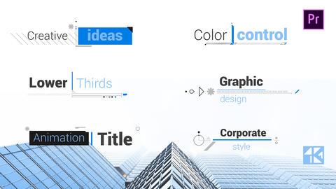 Corporate Title V3 モーショングラフィックステンプレート