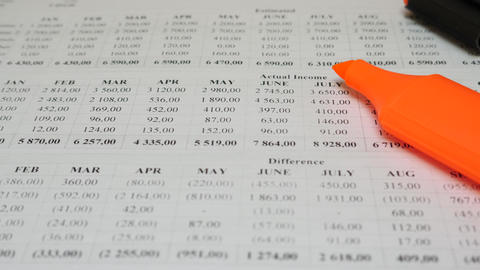 Paper Financial Account Document Live Action