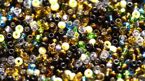 Multicolored Beads Rotate In The Sun Rays 2 Footage
