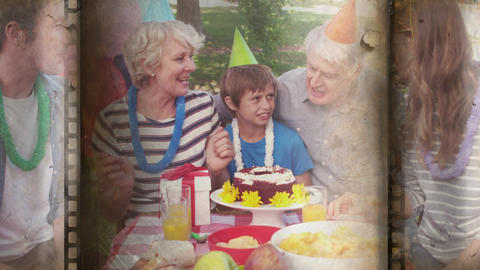Celebration of young boy his birhtday Animation