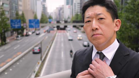 Portrait of a Japanese Businessman in Tokyo Japan Footage