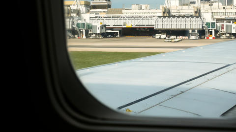 airliner is about to take off, Lisbon airport GIF