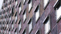 Building Facade with Many Windows Live Action