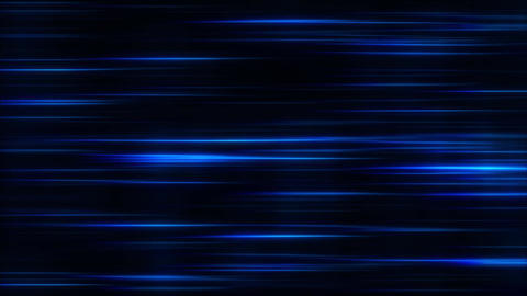 Blue Flowing Horizontal Light Stripes Loop Motion Background Animation