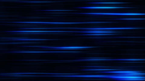 Blue Flowing Horizontal Light Stripes Loop Motion Background Stock Video Footage