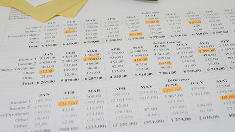 Household Budgeting and Financial Planning Footage