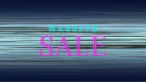 Animation of massive sale text Animation