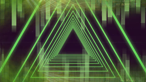 Futuristic animation of triangles Animation
