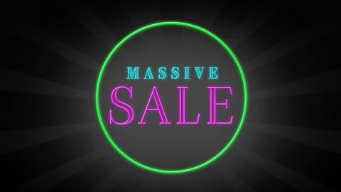 Colorful massive sale text Animation