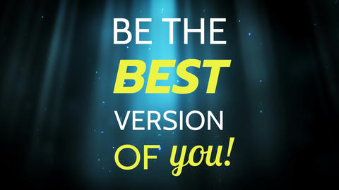 Writing word be the best version of you Animation