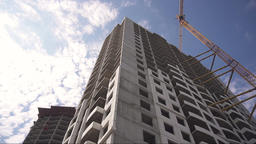 Construction of a house. Construction site, building of apartments Footage
