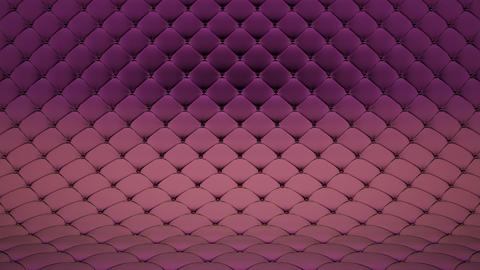 3D animation of pale pink quilted surface with purple shiny straps. Realistic animation of high Animation