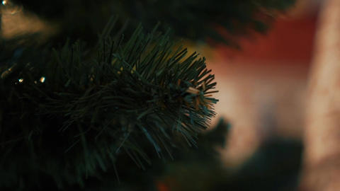 Real Time Christmas Decoration 2 - Christmas Tree Close Up Footage