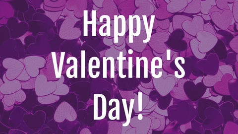 Valentines day animation with dynamic heart purple background Animation