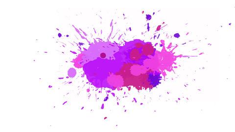 Blue-violet blot on alpha channel Animation