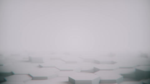 Abstract Hexagon Geometric desktop Surface Smooth Move... Stock Video Footage
