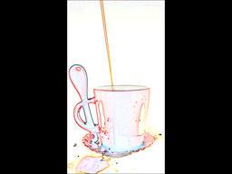 Rainbow tea cup video_new ver Footage