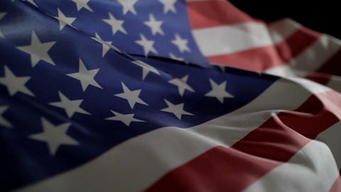 Waving of American flag slow motion Footage