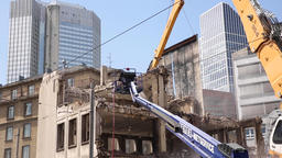 Demolition Work on Downtown Residential Structure Live Action