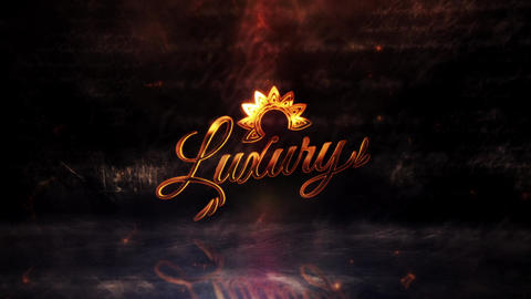 Gold Luxury Logo Reveal After Effects Template