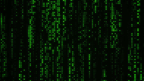Falling Matrix Digital Green Dots Loop Motion Background Animation