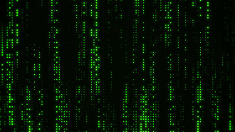 Falling Matrix Digital Green Dots Loop Motion Background Stock Video Footage