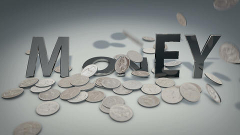Metal Money Stock Video Footage