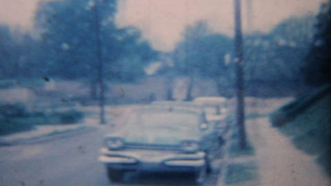 Old Car 1964 Vintage 8mm film Stock Video Footage