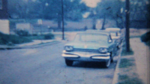 Old Car 1964 Vintage 8mm film Footage