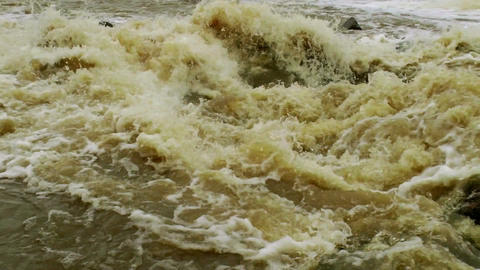 Waterfall in a river 4 Stock Video Footage