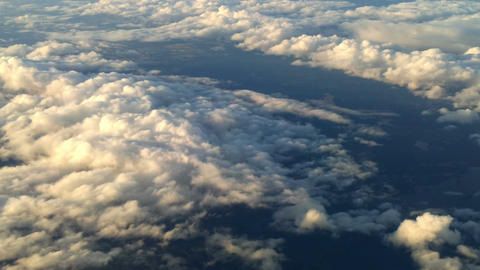 Plane flying over the clouds 1 Footage