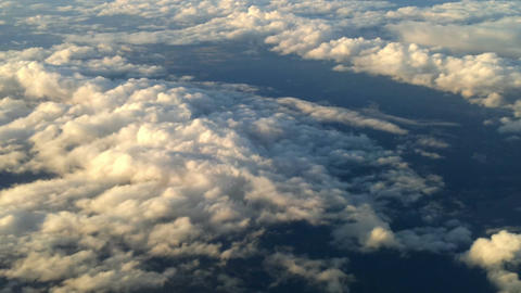 Plane flying over the clouds 1 Stock Video Footage