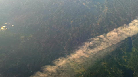 Plane flying over the clouds 3 Stock Video Footage