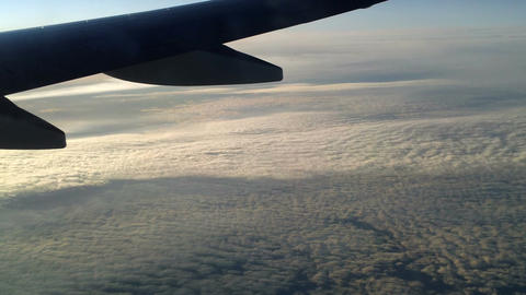 Plane flying over the clouds 7 Footage