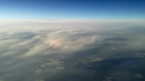 Plane flying over the clouds 9 Stock Video Footage