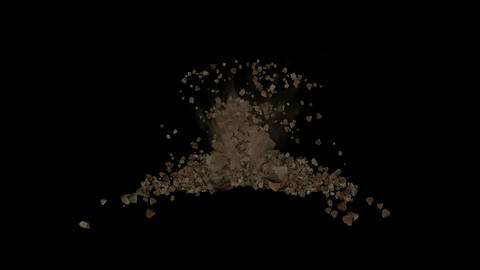 explosion stone,quarry blasting Animation