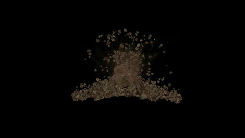 explosion stone,quarry blasting Stock Video Footage