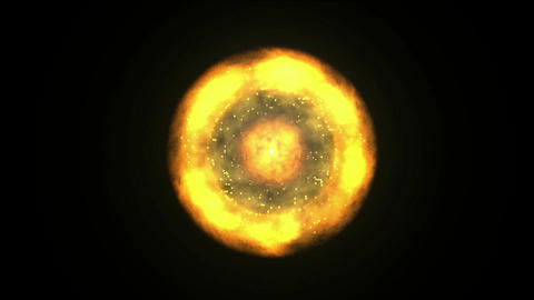 solar & fireball,galaxy and cluster explosion in... Stock Video Footage