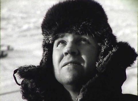 Newsreel of the USSR. The Arctic. Icebreaker Stock Video Footage