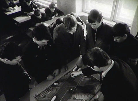 Adolescents in vocational-technical school. Newsreel of... Stock Video Footage