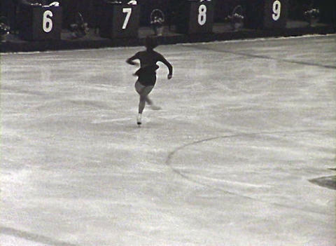 Figure skating. Newsreel of the USSR Stock Video Footage