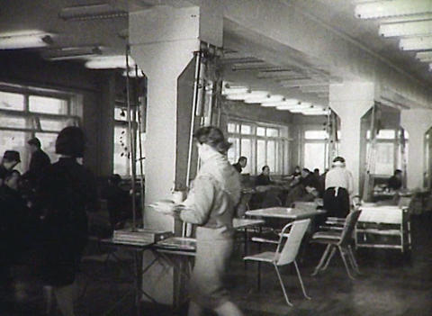 People eat in . Chronicle of the USSR Stock Video Footage