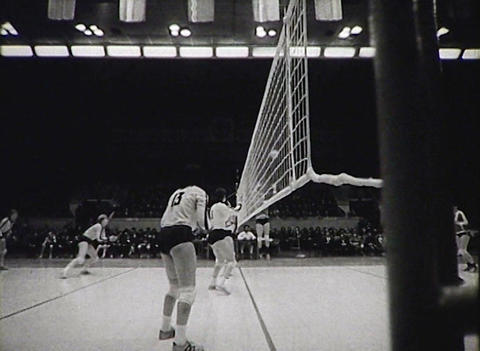 Volleyball. Women's teams. Newsreel of the USSR Stock Video Footage